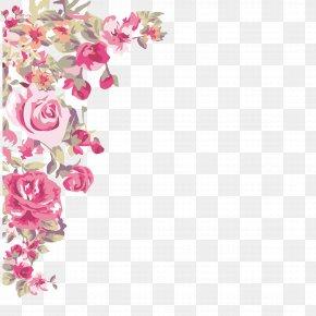 -painted Flowers Corner - Flower Wallpaper PNG