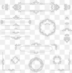 Vector Line Border Texture - Euclidean Vector PNG