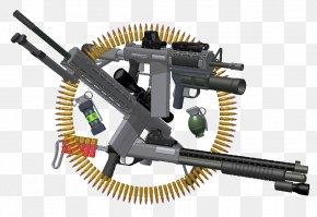 Machine Gun - Machine Gun Firearm Ammunition Gun Barrel PNG