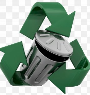 Green Trash Can - Recycling Symbol Waste Container Tin Can PNG