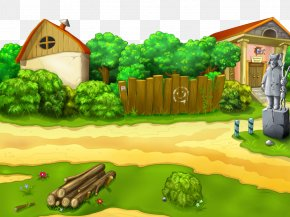Adventure Game Landscape - Cartoon Biome Rural Area Games Grass PNG