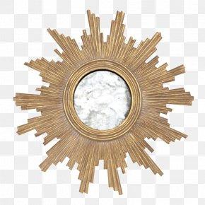 Starburst Gold - Mirror Gold Leaf Light Bathroom PNG