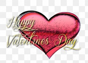Happy Valentines Day - Valentine's Day Text Photography February 14 PNG