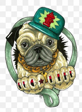 Pug Life Pic - Pug Fashion Accessory Clip Art PNG