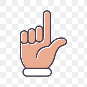 Pointing Vector - Thumb Middle Finger Clip Art PNG