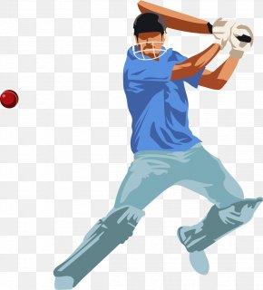 Vector Hand-painted Baseball - Indian Premier League Baseball Bat Cricket PNG