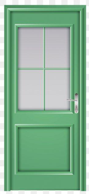 Hand-painted Wooden Doors - Window Paper Door Clip Art PNG