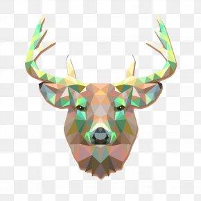 Geometric Deer Picture Material PNG