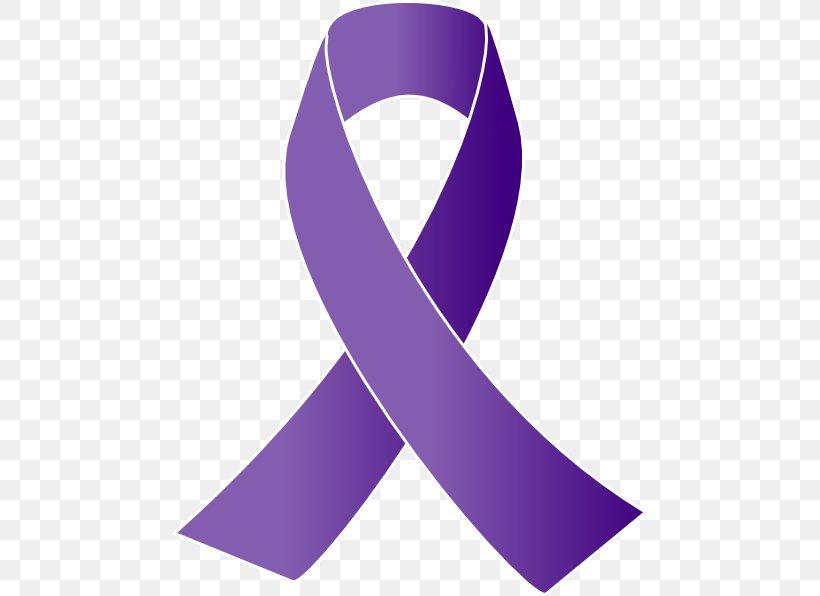 Cancer Awareness Ribbon Purple Ribbon Clip Art Png 474x596px