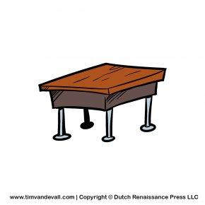 Classroom Desk Cliparts - Desk Classroom Table Clip Art PNG