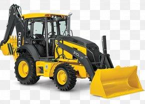 Bulldozer - John Deere Backhoe Loader Heavy Machinery PNG