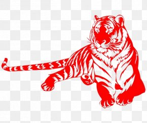 Red Tiger - Tiger Chinese Zodiac Rat Chinese Astrology PNG