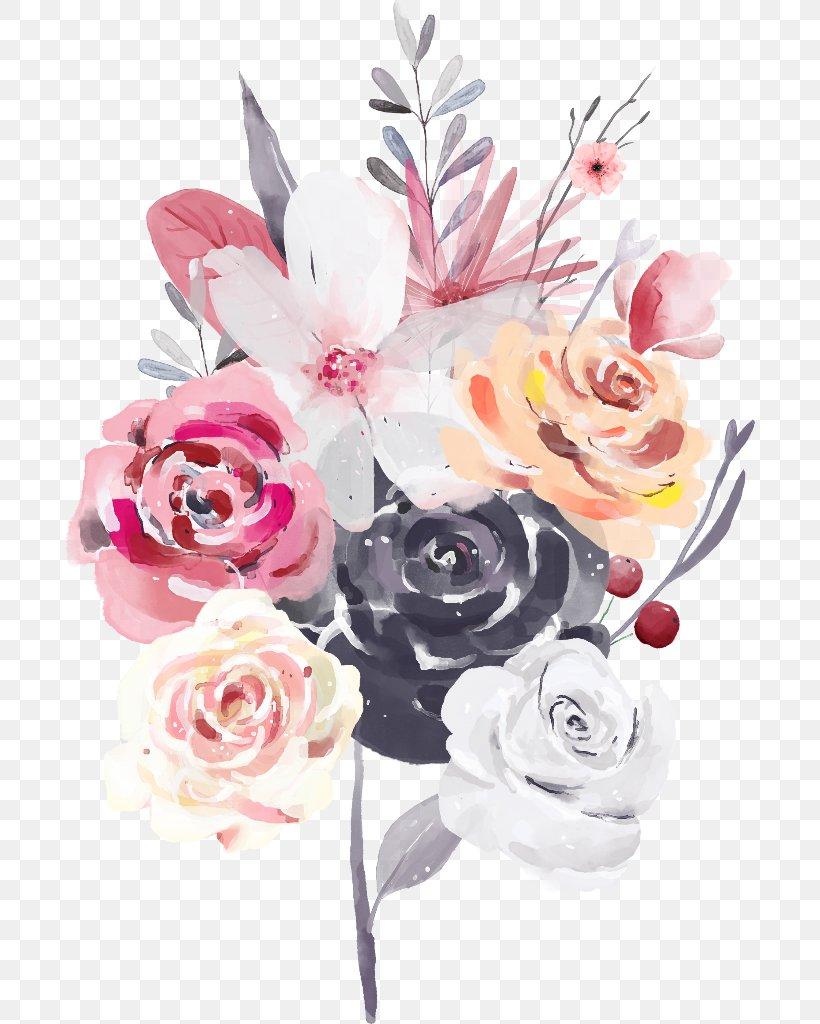 Flower Bouquet Rose Floral Design Watercolor Painting Png
