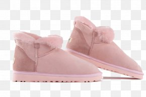 Pink Plush Snow Boots - Snow Boot Snow Boot Shoe PNG