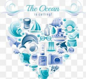 Sailing Logo Design - Sea Euclidean Vector Element Blue PNG