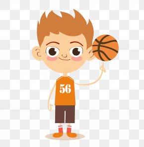 Vector Material Boys Basketball - Basketball Sport Child Cartoon PNG