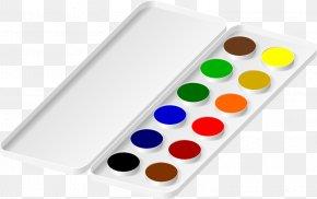 Watercolor Painting Paintbrush - Watercolor Painting Palette Clip Art PNG