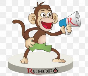 Creative Monkey - Primate Vertebrate Cartoon Monkey Clip Art PNG