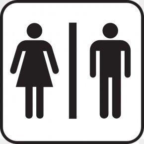 Womens Bathroom Sign - Bathroom Public Toilet Clip Art PNG