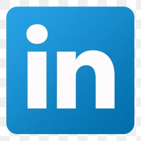 Linkedin - Blue Square Angle Area PNG
