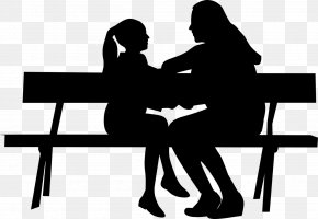 Mother Day Drawing Png Download - Mother's Day Daughter Silhouette Child PNG