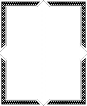 Border Frame - Paper Black And White Picture Frame Line Angle PNG