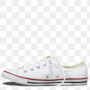 White Casual Walking Shoes For Women - Sports Shoes Chuck Taylor All-Stars Converse Chuck Taylor All Star Dainty Oxford Sneakers PNG