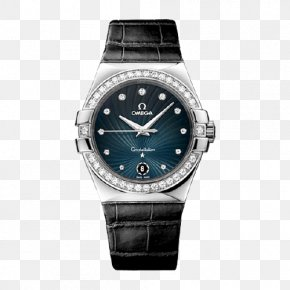 Omega Constellation Double Eagle Steel Quartz Ladies Watch - Omega SA Quartz Clock Omega Constellation Watch Replica PNG
