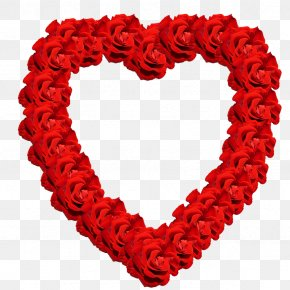 Red - Valentine's Day Heart Rose Clip Art PNG
