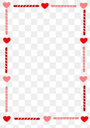 Heart Border - Valentine's Day Heart Love Clip Art PNG