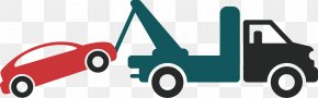 Towing The Car - Car Towing Automobile Repair Shop Tow Truck Vehicle PNG