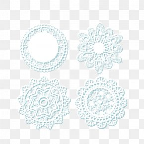 Decorative Lace Tablecloths Transparent Background Vector Material - Lace Doily White Pattern PNG