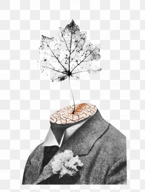 Creative Illustration Wearing A Suit Leaves - Barcelona Suit Illustration PNG