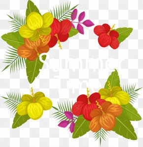 Beautiful Summer Time - Floral Design Flower Summer Euclidean Vector PNG
