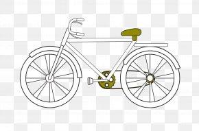 Cartoon Drawing Bicycle - Bicycle Wheel Road Bicycle Hybrid Bicycle Bicycle Frame PNG
