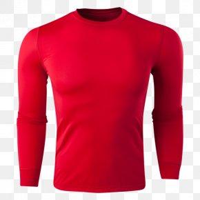 T-shirt - T-shirt Sleeve Red Collar PNG