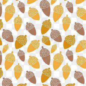 Acorn Autumn Seamless Background Vector Material - Goodbye Summer, Hello Autumn Acorn Euclidean Vector PNG