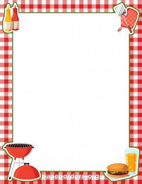 BBQ Border Cliparts - Barbecue Hot Dog Picnic Clip Art PNG