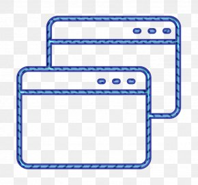 Rectangle Website Icon - Browser Icon Display Icon Internet Icon PNG
