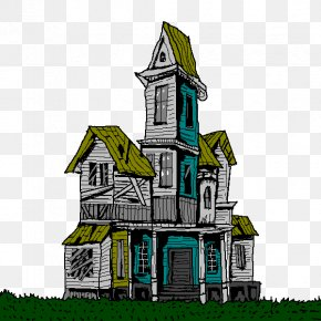Nice House Cliparts - House Free Content Haunted Attraction Halloween Clip Art PNG