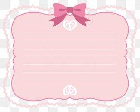 Pink Ribbon Border PNG
