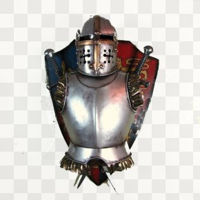 Shield On The Armor - Middle Ages Knight Armour Body Armor Medieval Literature PNG