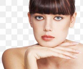 Stuffy Woman Face Closeup - Eye Blue Face Brown Color PNG