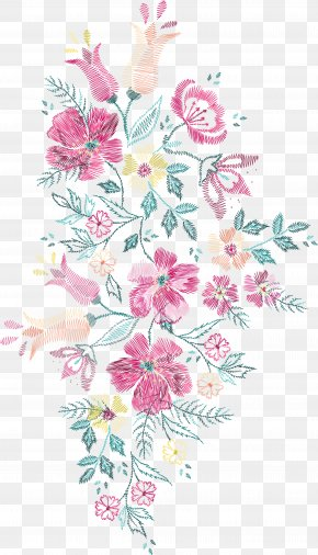 Soviet-style Vector Floral Embroidery - Flower Embroidery Euclidean Vector Floral Design PNG