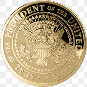 Gold Seal - Seal Of The President Of The United States Medal US Presidential Election 2016 PNG