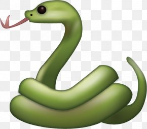 Snake - Serpent Snake Emoji IPhone Mamba PNG