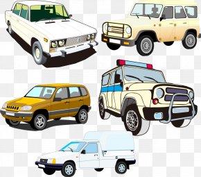 Vector Cartoon Car - Sports Car Automotive Design Compact Van PNG