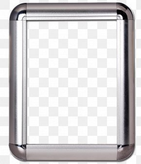Silver Border - Aluminium Picture Frame Extrusion Advertising PNG