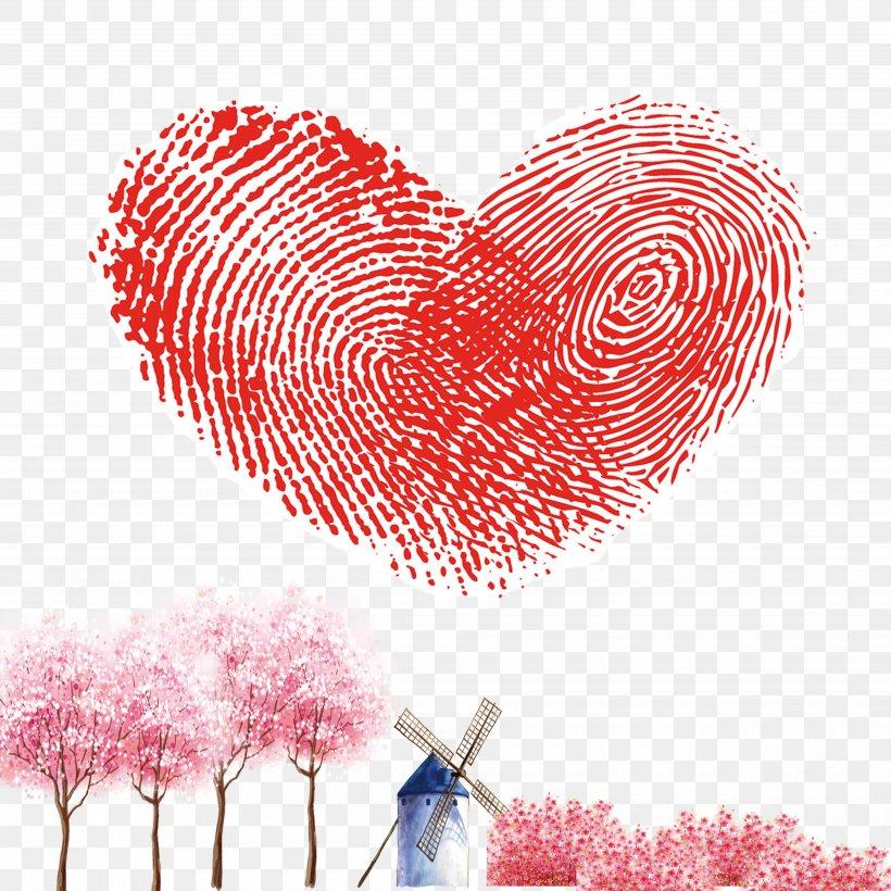 Fingerprint Raster Graphics Heart, PNG, 5000x5000px, Watercolor, Cartoon, Flower, Frame, Heart Download Free