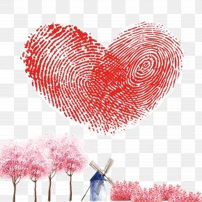 Fingerprint Love - Fingerprint Raster Graphics Heart PNG